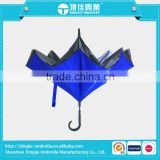 2016 hot selling new design double layer reverse upside down inverted umbrella car umbrella                                                                         Quality Choice