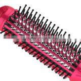 Auto shut off lcd screen rotating electric straightening hair brush with 3 presetting temperature