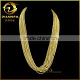 European fashion accessory for pendant 18k gold plated stainless steel french rope chain