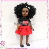 Real girl Afro Doll Farvision Doll 18'' Baby girl soft doll
