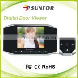 lithium battery intercoms video digital door peephole door lcd viwer with motion detection