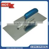 Plastering trowels with silver blue wooden handle, stainless steel blade