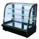 Normal temperature cake showcase / Curved glass cake display cabinet/Bakery refrigeration equipment