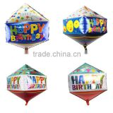 Wholesale 75*40cm Happy Birthday Print Cone Shape Foil Balloon For Birthday Party