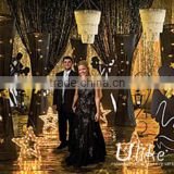 table skirt foil curtain 1m height and 3m wide design of wedding curtain fancy curtain designs metallic foil curtain