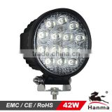 2013NEW!!4x4 car accessories, 42W 12/24V LED work light on truck,Jeep,Atv,4WD,Boat,Mining,tractor,Forklifts,IP67,CE, Rohs,Emark