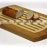 hot sale Bamboo Baguette Cutting Board Simply Bamboo Multi-Purpose Two-Tone Bamboo Crumb Tray Cutting Board Serving Tray