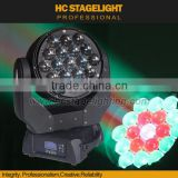 outdoor beam 19pcs 15w rgbw 4in1 led moving head stage light with zoom                                                                                                         Supplier's Choice