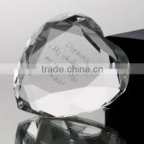 Wholesale clear transparent crystal glass heart diamond shape paperweight for wedding favors gifts