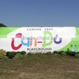 Outdoor wall advertising banners, polyester banners, full color vinyl banners                                                                         Quality Choice