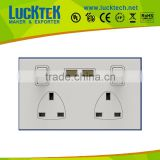 USB face plate with two USB port , two UK port and two on/off switch