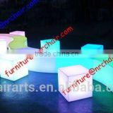 shanghai commercial furniture event rental acrylic lounge LED lighting sitting cube seat