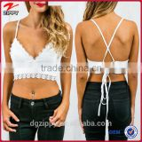 V- neckline valencia lace up crop bralette top selling products 2015                                                                         Quality Choice                                                     Most Popular