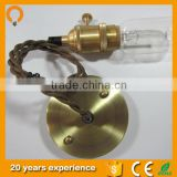 Wholesale Electric Brass E26 / e27 Lamp Holder with Rotary Switch Socket Suitable for Any Bulb