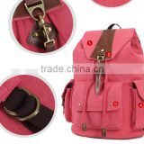 Girl pink canvas backpack waxed canvas rucksack since 1997