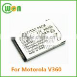 3.7V 900mAh replacement battery for Motorola V360 V-360, V361 V-361, V365 V-365, VA76r VA-76r Tundra, VE20 VE-20 Razr, VE240