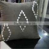 2014 Luxury Dubai star hotel embrodiery velvet cushion pillow for living room