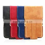 New design belt clip leather pouch case for mobile phones with rope