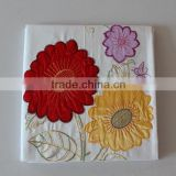 Embroidery sunflower bedsheet