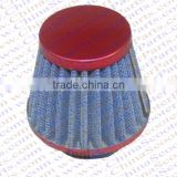 35MM Air filter Blue Grid Red Cap Mini Moto Dirt Pit Bike ATV Quad Scooter Buggy Pocket Parts