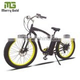 Merry Gold Fat Wheel 48V 500W Beach Cruiser Electric Bicycle High Speed Colors Optional