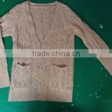 15JW0314 mens chenille cardigan sweater