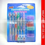 6PCS Hotsale Soft Toothbrush Set,Travel Toothbrush Foldable,Toothbrush For Daily Home Use