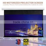Factory low price 150 inch matte white motorized projector screen home movie electronic projection screen