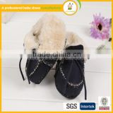 wholesale shoes soft Genuine Leather cotton yarn baby shoes for alibaba in spanish