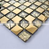 SMP05 Cheap Premium Mosaic Ceramic Backsplash Tiles Lowes Shower Tile Gold Mosaic Ceramics Tiles