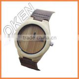 new high quality crystal fashion wooden watches with leather band