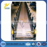 China new heavy duty industrial carbon steel heat resistant slat chain conveyor