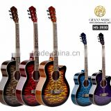 Caravan music 39 inch high quality acoustic guitar for beginners made in China HS3930