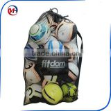 Large Heavy Duty Soccer Ball Mesh Bag for Sports,Adjustable Shoulder Strap Secure Side Pocket for your own items