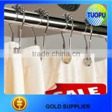 China zinc alloy chrome curtain hook,balls Roller Shower Curtain Rings,metal curtain hooks