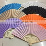 Bamboo or plastic folding hand fan for promotion or gifts with logo customized flag printed