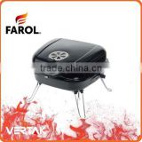 Indoor charcoal bbq grill on table