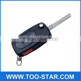 3 Button Car Remote Key Fob Case Shell Blade HAA for Audi A2 A3 A4 A6 A8 TT Black