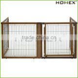 Strong Structure Indoor Wooden Dog Fence Homex_BSCI Factory
