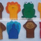 hot sale eco friendly new products promotional gift wholesale ornaments fabric animal felt finger puppets on alibaba express