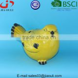BSCI Audit DEHUA Factory home and garden decorations crakle glazed Ceramic bird, ceramic animal figurines