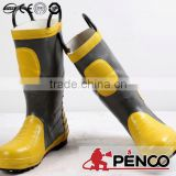 firefighter safety shoes fire retardant security steel toe rubber fireman waterproof rescue construction working boots