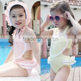 S66067A baby girls love heart swimwear lace one piece swimsuits