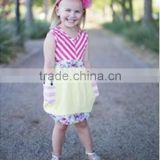 baby girls dress designs baby red&white stripe and yellow dresses with pockets casual dresses cotton summer
