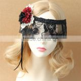 Fantasy Sexy Flower Ribbon Lace Half Face Eye MASK Masquerade Veil Carnival Costume Accessories Party