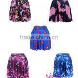 Wholesale Women Digital Printing Puff Skirt Above Knee Plus Size pictures fashionable skirts