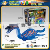 Sound light projection swing raw egg walking dinosaur toy plastic