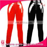 Spring models large size women's fashion Black Faux pu Leather stretch Legging Wholesale