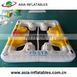 inflatable water floating island raft/ Inflatable floating bar with tent / inflatable floating lounge floating island river