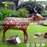 Life-size Fiberglass Deer for Zoo Decoration